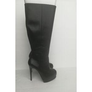 Pour La Victoire Platform Knee High Leather Boots